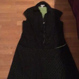 2 piece suit green looks like light through black